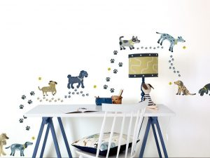 picturebook wall stickers walkies