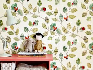 picturebook wallcovering ladybugs