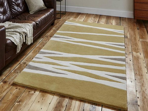 elements el 61 yellow wool rug 1